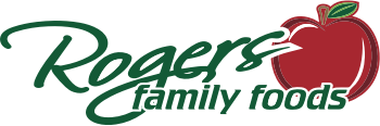 A logo of Roger's Family Foods